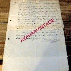 Manuscritos antiguos: CAZORLA, JAEN, 1881, INFORME PERITO AGRIMENSOR MEDICION OLIVAR. Lote 180333403