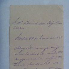 Manuscritos antiguos: CARTA MANUSCRITA DE 1897 , SEVILLA . SIGLO XIX. Lote 180388192