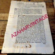 Manuscritos antiguos: SEVILLA, 1760, DOCUMENTO SOBRE MEDIA ANNATA QUE HAN DE PAGAR LOS ESCRIBANOS, 2 PAGINAS. Lote 180489000