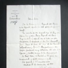 Manuscritos antiguos: AÑO 1897. MADRID-MEXICO. NOMBRAMIENTO MINISTRO PLENIPOTENCIADO Y ENVIADO EXTRAORDINARIO EN MEXICO . Lote 180494872