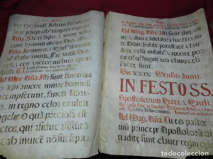 (M) PERGAMINOS CANTORAL S.XVI PLIEGO DE 12 PÁG, GRAN TAMAÑO 66X48 CM (Coleccionismo - Documentos - Manuscritos)