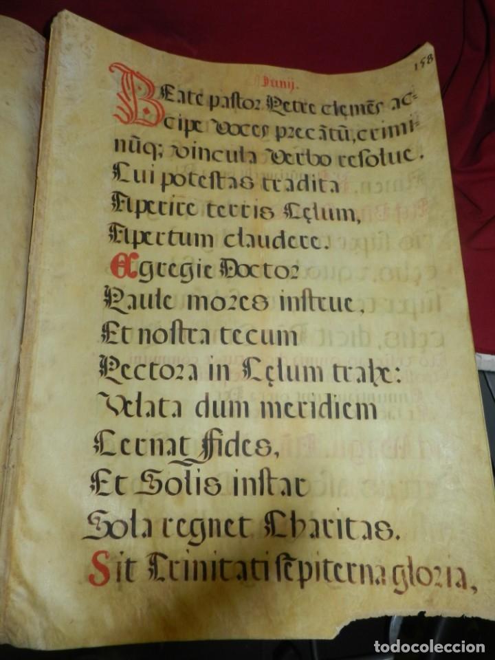 Manuscritos antiguos: (M) PERGAMINOS CANTORAL S.XVI PLIEGO DE 12 PÁG, GRAN TAMAÑO 66X48 CM - Foto 6 - 180922741