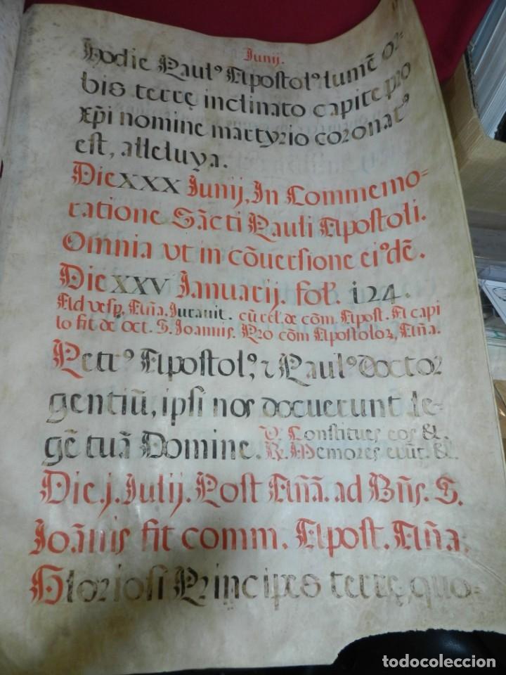 Manuscritos antiguos: (M) PERGAMINOS CANTORAL S.XVI PLIEGO DE 12 PÁG, GRAN TAMAÑO 66X48 CM - Foto 8 - 180922741