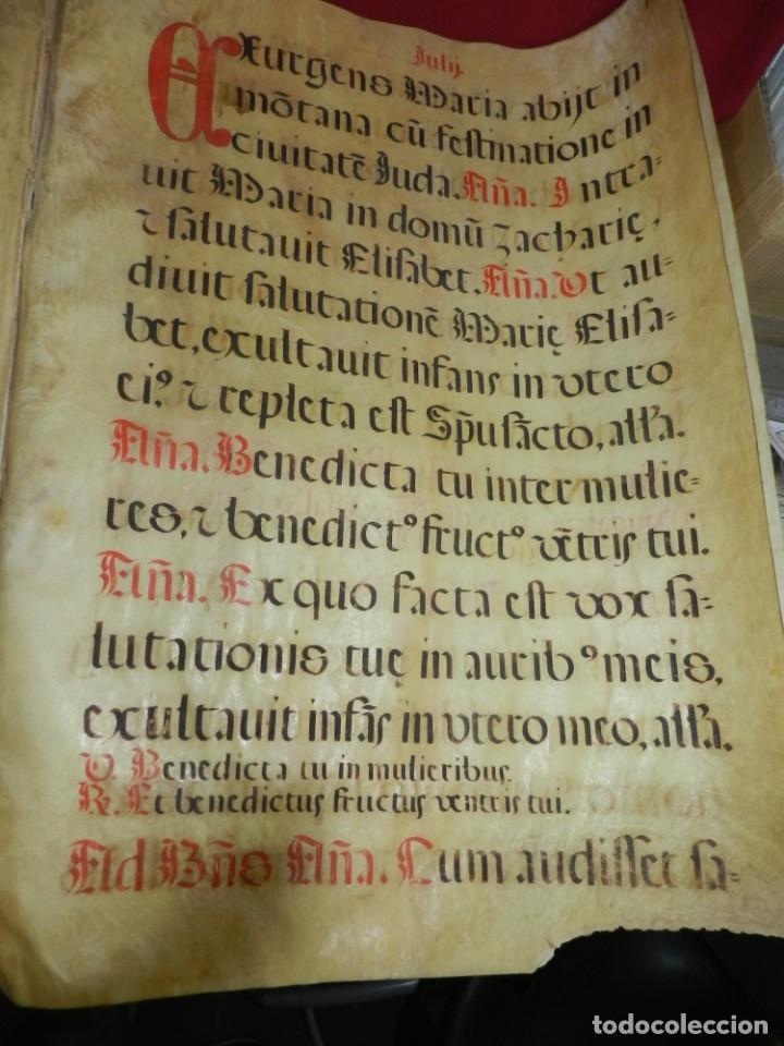 Manuscritos antiguos: (M) PERGAMINOS CANTORAL S.XVI PLIEGO DE 12 PÁG, GRAN TAMAÑO 66X48 CM - Foto 10 - 180922741