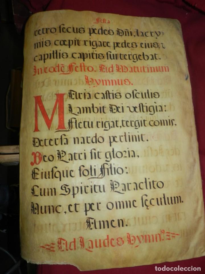 Manuscritos antiguos: (M) PERGAMINOS CANTORAL S.XVI PLIEGO DE 12 PÁG, GRAN TAMAÑO 66X48 CM - Foto 13 - 180922741