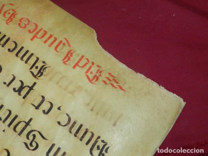 Manuscritos antiguos: (M) PERGAMINOS CANTORAL S.XVI PLIEGO DE 12 PÁG, GRAN TAMAÑO 66X48 CM - Foto 14 - 180922741