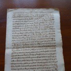 Manuscritos antiguos: VILLAFRANCA, NAVARRA, TRANSACCIÓN ENTRE VIUDO JUAN ROS, Y PARIENTES DE LA FINADA, ANTONA DE VITORIA. Lote 181411531