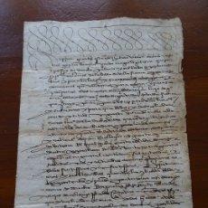 Manuscritos antiguos: VILLAFRANCA, NAVARRA,VENTA DE UN HUERTO, 1575, 4 PAGS. Lote 181411888