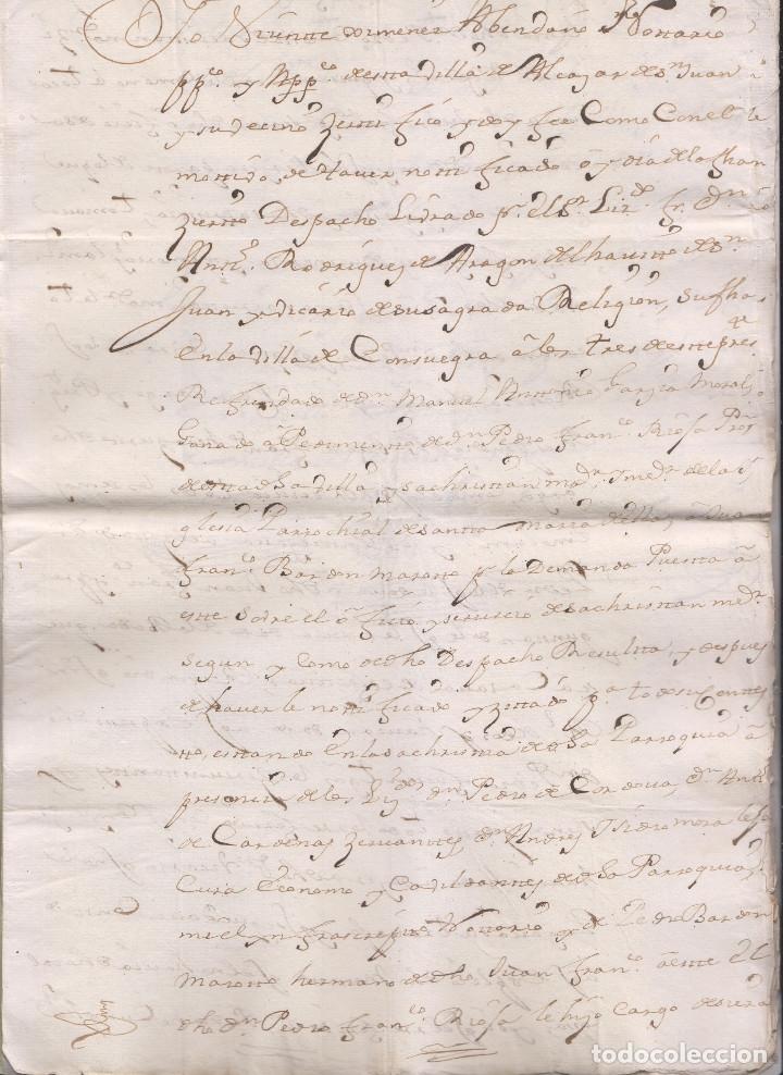 Manuscritos antiguos: PAPELES DE PEDRO FRANCISCO DE RIOJA, SACRISTÁN MAYOR DE SANTA MARÍA DE ALCÁZAR DE SAN JUAN, C. REAL - Foto 3 - 181435960