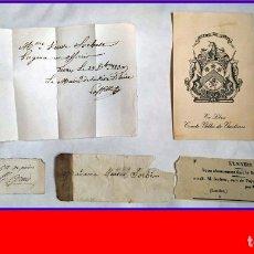 Manuscritos antiguos: LOTE DE MANUSCRITOS DESDE EL SIGLO XVII Y OTROS DOCUMENTOS.. Lote 181450412