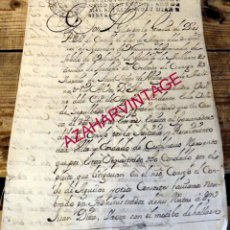 Manuscritos antiguos: 1717, FELIPE V, NOMBRAMIENTO JUSTICIA CONDADO DE CASTILNOVO, SEGOVIA, SELLO DE PLACA REAL,TIMBROLOG. Lote 181513217