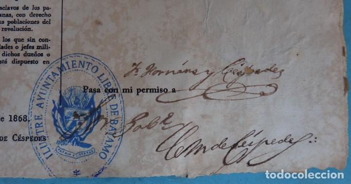 Manuscritos antiguos: 2 DOCUMENTOS ESCLAVOS, CARTA DE LIBERTAD Y CEDULA DEL MISMO ESCLAVO FIRMA MANUEL DE CESPEDES CUBA - Foto 7 - 181584623