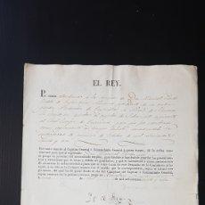 Manuscritos antiguos: NOMBRAMIENTO REAL BARCELONA: FIRMA FERNANDO VII YO EL REY. SUBTENIENTE INGENIEROS. Lote 181937102