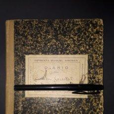 Manuscritos antiguos: ANTIGUO DIARIO PERSONAL DE GUARDA FORESTAL 1931 - 1934 CALASPARRA MURCIA. Lote 182049135