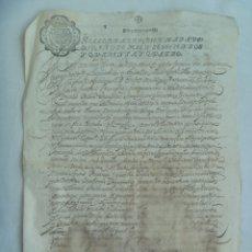 Manuscritos antiguos: DOCUMENTO MANUSCRITO CON SELLO DE DIEZ MARAVEDIES. 1644 , SIGLO XVII. HECHO POLVO. Lote 182052616