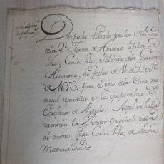 Manuscritos antiguos: MADRID 1653 - CONCESIÓN DE POSADA A UN SOLDADO DE LA GUARDIA ALEMANA. Lote 182068098