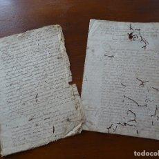 Manuscritos antiguos: MONASTERIO IRACHE, GRANJA IMAZ, ALCANDRE, RIOJA, VENTATÉRMINOS RAMILLO SOTILLO, TAMARIGAL CARRASCAL . Lote 182080543