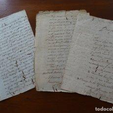 Manuscritos antiguos: MONASTERIO IRACHE, GRANJA IMAZ CONFLICTOS CON ALCANDRE, RIOJA, . Lote 182080801