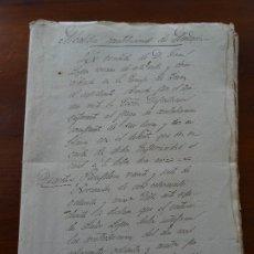 Manuscritos antiguos: NAVARRA, GRANJA IMAZ, EXPEDIENTE PAGO CONTRIBUCIÓN A MENDAVÍA, 1846, 1885,. Lote 182081616