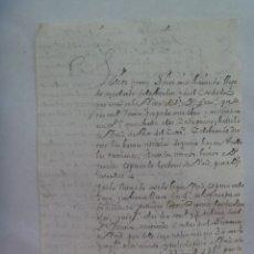 Manuscritos antiguos: CARTA MANUSCRITA ESCRITA EN SEPULVEDA EN 1731 , SIGLO XVIII. Lote 182113277