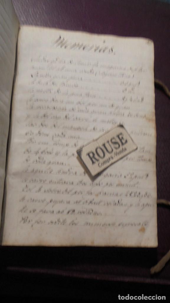 Manuscritos antiguos: ANTIGUO LIBRO MANUSCRITO , MEMORIAS REMEYS ....... 170 PAG. PRINCIPIO S. XIX AÑOTACIONES DE 1810 - - Foto 3 - 182158576