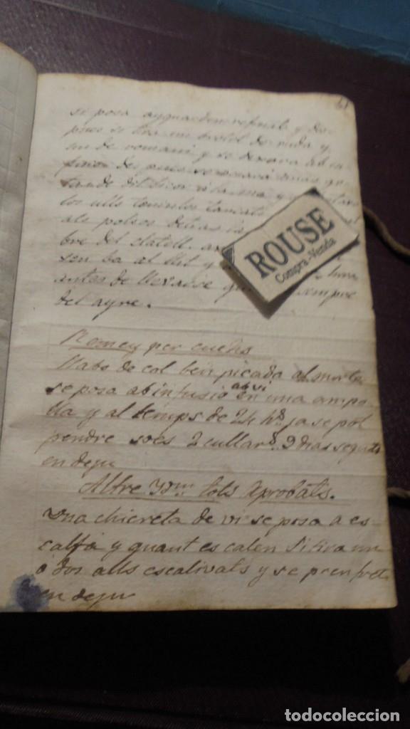 Manuscritos antiguos: ANTIGUO LIBRO MANUSCRITO , MEMORIAS REMEYS ....... 170 PAG. PRINCIPIO S. XIX AÑOTACIONES DE 1810 - - Foto 4 - 182158576