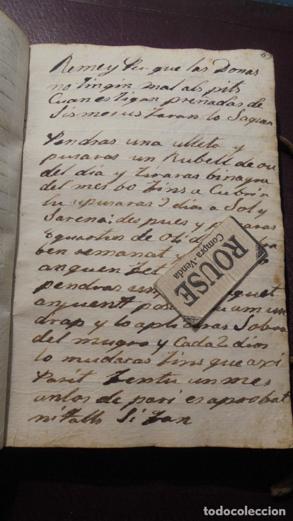 Manuscritos antiguos: ANTIGUO LIBRO MANUSCRITO , MEMORIAS REMEYS ....... 170 PAG. PRINCIPIO S. XIX AÑOTACIONES DE 1810 - - Foto 7 - 182158576