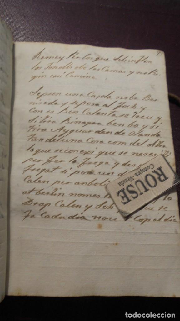 Manuscritos antiguos: ANTIGUO LIBRO MANUSCRITO , MEMORIAS REMEYS ....... 170 PAG. PRINCIPIO S. XIX AÑOTACIONES DE 1810 - - Foto 8 - 182158576