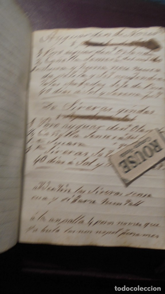 Manuscritos antiguos: ANTIGUO LIBRO MANUSCRITO , MEMORIAS REMEYS ....... 170 PAG. PRINCIPIO S. XIX AÑOTACIONES DE 1810 - - Foto 9 - 182158576