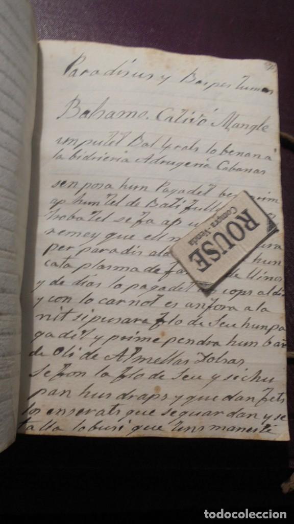 Manuscritos antiguos: ANTIGUO LIBRO MANUSCRITO , MEMORIAS REMEYS ....... 170 PAG. PRINCIPIO S. XIX AÑOTACIONES DE 1810 - - Foto 11 - 182158576
