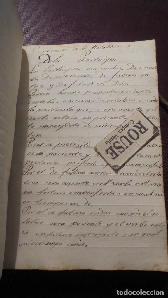 Manuscritos antiguos: ANTIGUO LIBRO MANUSCRITO , MEMORIAS REMEYS ....... 170 PAG. PRINCIPIO S. XIX AÑOTACIONES DE 1810 - - Foto 13 - 182158576
