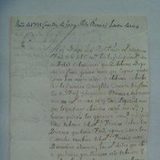 Manuscritos antiguos: CARTA MANUSCRITA ESCRITA EN SEPULVEDA EN 1731 CIRCULADA A VALLADOLID, SIGLO XVIII. Lote 182239378