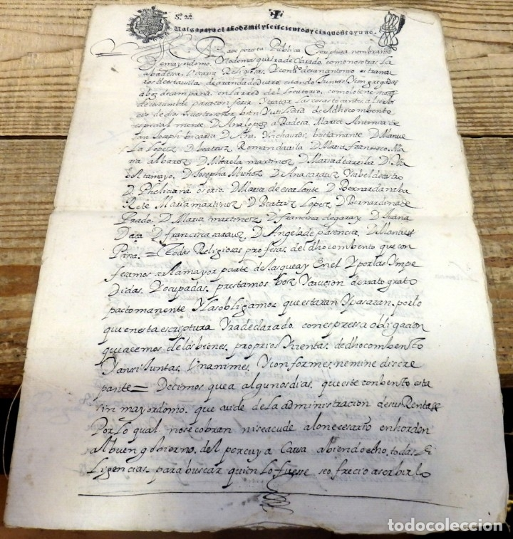 ARANDA DE DUERO,1651, LICENCIA CONCEDIDA A ADMINISTRADOR CONVENTO DE SAN ANTONIO, TIMBROLOGIA (Coleccionismo - Documentos - Manuscritos)