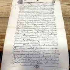 Manuscritos antiguos: ARANDA DE DUERO,1651, LICENCIA CONCEDIDA A ADMINISTRADOR CONVENTO DE SAN ANTONIO, TIMBROLOGIA. Lote 182243906