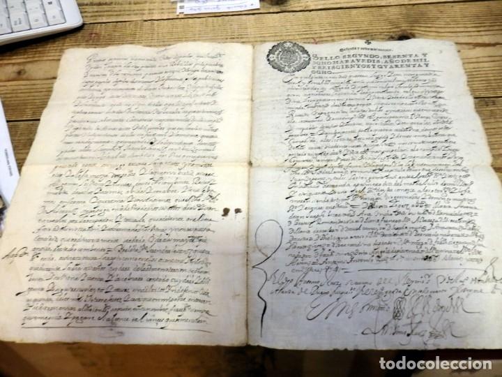 Manuscritos antiguos: ARANDA DE DUERO,1651, LICENCIA CONCEDIDA A ADMINISTRADOR CONVENTO DE SAN ANTONIO, TIMBROLOGIA - Foto 3 - 182243906