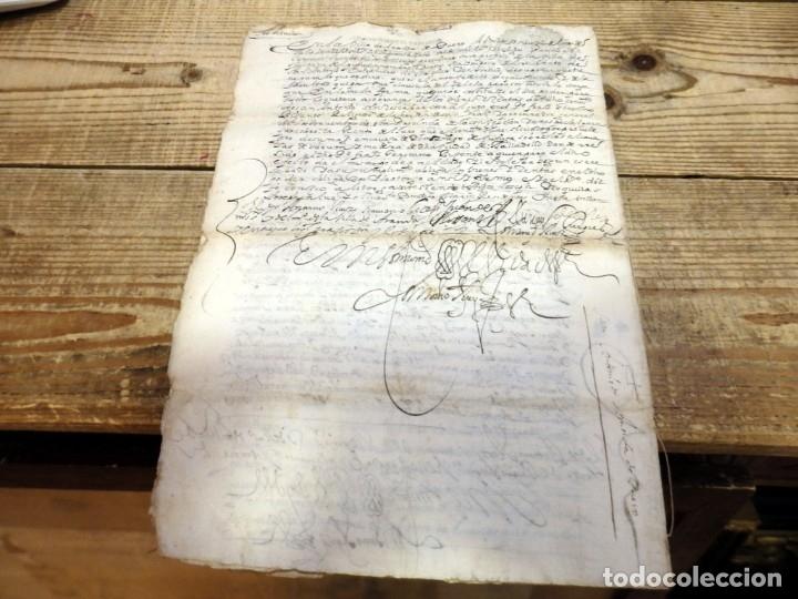 Manuscritos antiguos: ARANDA DE DUERO,1651, LICENCIA CONCEDIDA A ADMINISTRADOR CONVENTO DE SAN ANTONIO, TIMBROLOGIA - Foto 4 - 182243906