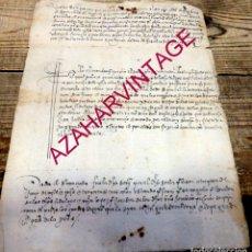 Manuscritos antiguos: 1633,MANUSCRITO FALLO SENTENCIA RELATIVA A HIJAS DE HIJOSDALGOS, 1 PAGINA. Lote 182254343