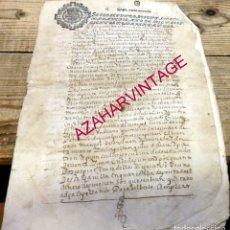 Manuscritos antiguos: SEPULVEDA,1642, CENSO CAPELLANIA DE LA CARCEL CONTRA DON PEDRO DE SALINAS,11 PAGINAS,TIMBROLOGIA. Lote 182258383