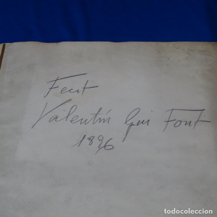 Manuscritos antiguos: Libro Manuscrito s.xix.teoria de los tejidos.obra excepcional de años de trabajo. - Foto 2 - 182331086