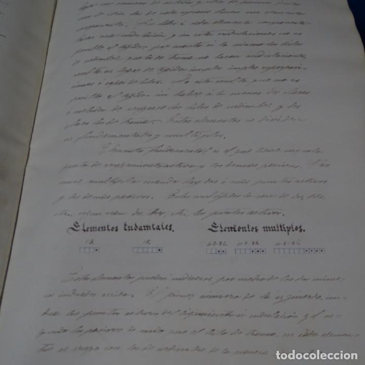 Manuscritos antiguos: Libro Manuscrito s.xix.teoria de los tejidos.obra excepcional de años de trabajo. - Foto 4 - 182331086