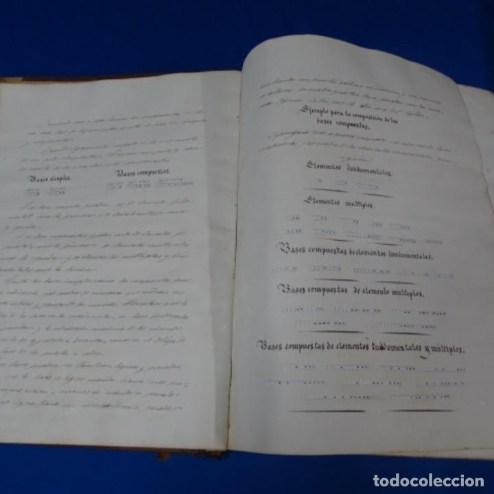 Manuscritos antiguos: Libro Manuscrito s.xix.teoria de los tejidos.obra excepcional de años de trabajo. - Foto 5 - 182331086
