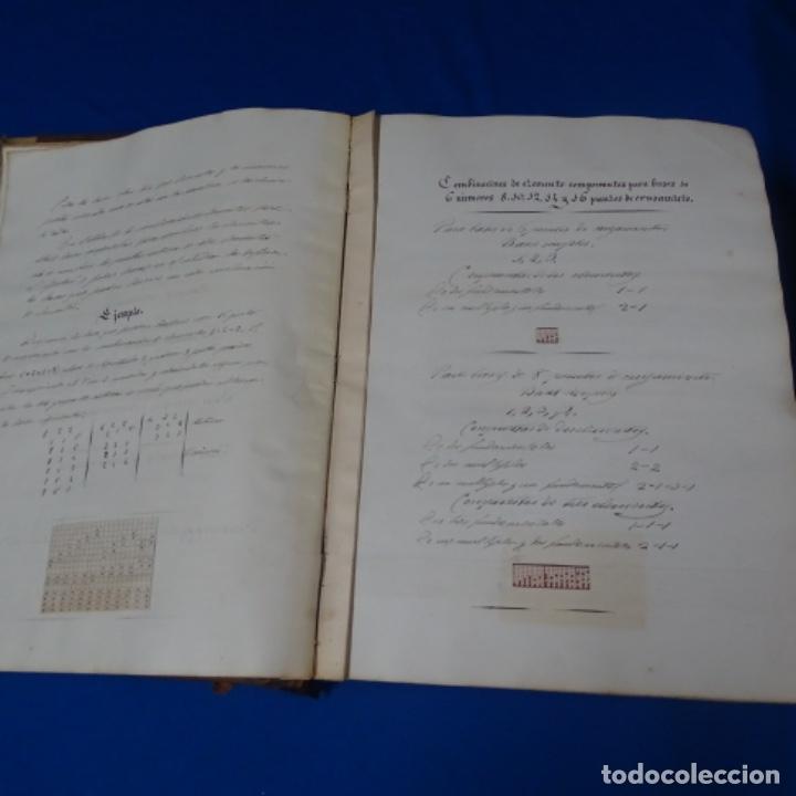 Manuscritos antiguos: Libro Manuscrito s.xix.teoria de los tejidos.obra excepcional de años de trabajo. - Foto 6 - 182331086
