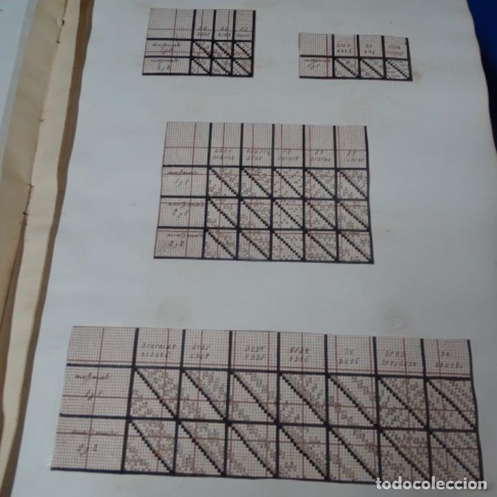 Manuscritos antiguos: Libro Manuscrito s.xix.teoria de los tejidos.obra excepcional de años de trabajo. - Foto 7 - 182331086