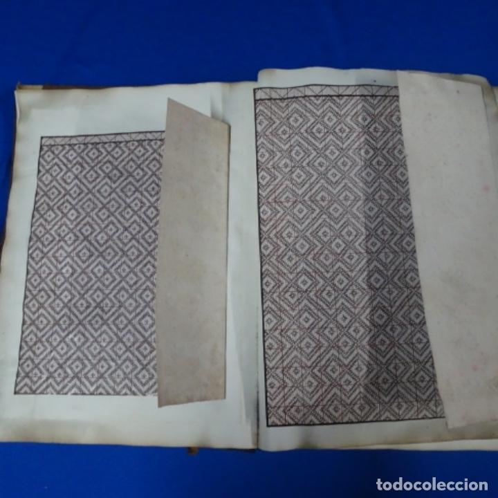 Manuscritos antiguos: Libro Manuscrito s.xix.teoria de los tejidos.obra excepcional de años de trabajo. - Foto 10 - 182331086