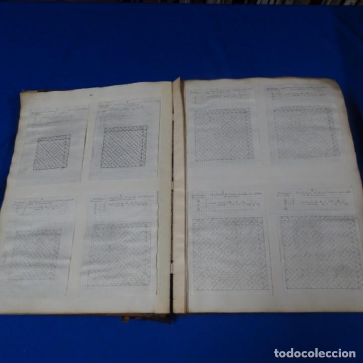 Manuscritos antiguos: Libro Manuscrito s.xix.teoria de los tejidos.obra excepcional de años de trabajo. - Foto 12 - 182331086