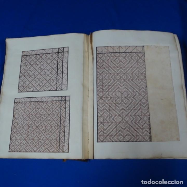 Manuscritos antiguos: Libro Manuscrito s.xix.teoria de los tejidos.obra excepcional de años de trabajo. - Foto 13 - 182331086