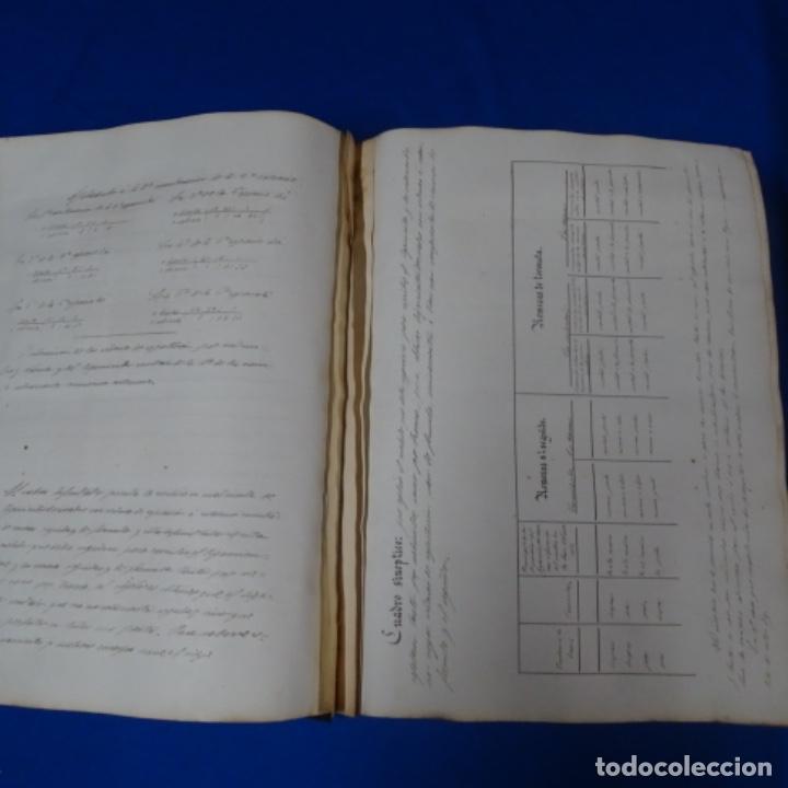 Manuscritos antiguos: Libro Manuscrito s.xix.teoria de los tejidos.obra excepcional de años de trabajo. - Foto 14 - 182331086