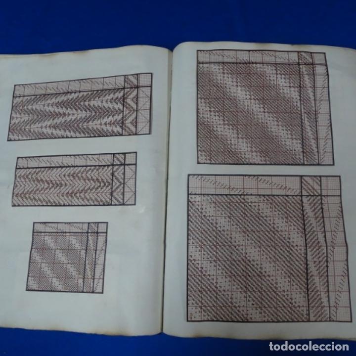 Manuscritos antiguos: Libro Manuscrito s.xix.teoria de los tejidos.obra excepcional de años de trabajo. - Foto 16 - 182331086