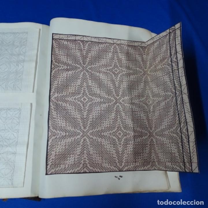 Manuscritos antiguos: Libro Manuscrito s.xix.teoria de los tejidos.obra excepcional de años de trabajo. - Foto 17 - 182331086