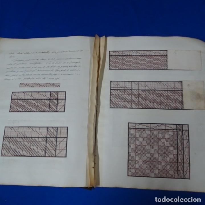 Manuscritos antiguos: Libro Manuscrito s.xix.teoria de los tejidos.obra excepcional de años de trabajo. - Foto 19 - 182331086